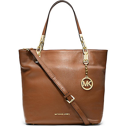 MICHAEL KORS Brooke medium leather tote (Luggage
