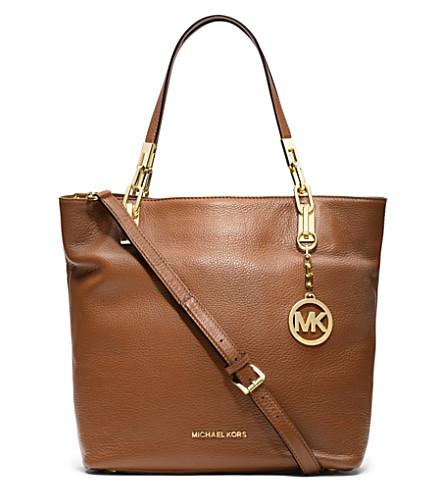 MICHAEL MICHAEL KORS Brooke medium leather tote (Luggage