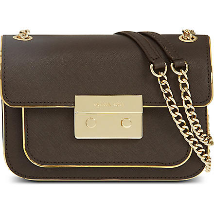 MICHAEL KORS Sloan leather shoulder bag (Coffee
