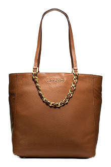 MICHAEL KORS Harper chain saffiano leather tote