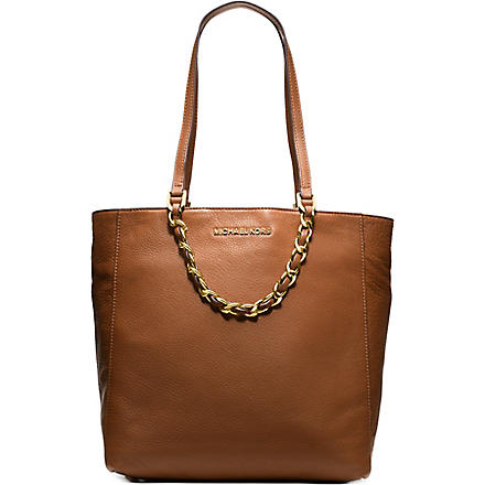 MICHAEL MICHAEL KORS Harper chain saffiano leather tote (Luggage