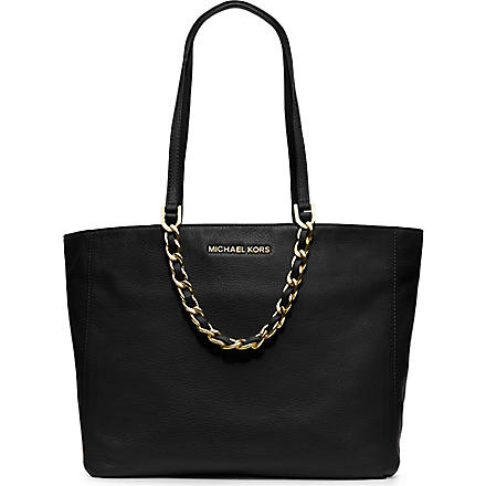 MICHAEL KORS Harper grainy saffiano leather tote (Black