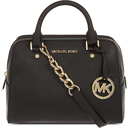 MICHAEL KORS Jet set travel satchel (Black