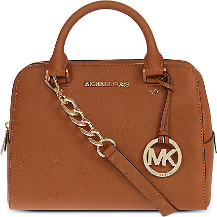 MICHAEL KORS Medium saffiano leather satchel (Luggage