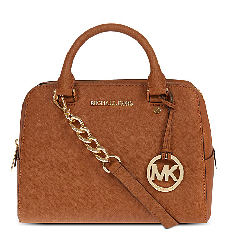 MICHAEL MICHAEL KORS Medium saffiano leather satchel (Luggage