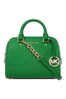 MICHAEL KORS Medium saffiano leather satchel