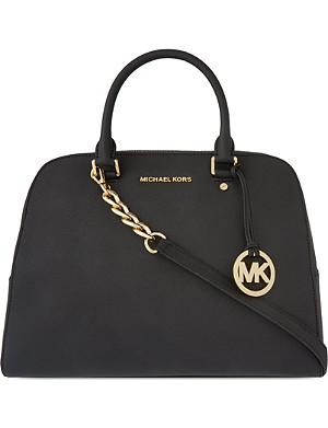 MICHAEL MICHAEL KORS Saffiano leather satchel