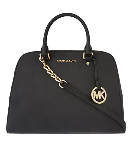 MICHAEL MICHAEL KORS Saffiano leather satchel (Black