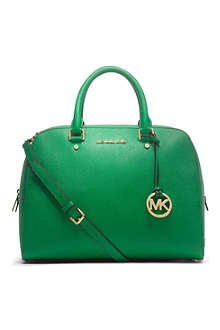 MICHAEL KORS Jet Set saffiano leather satchel