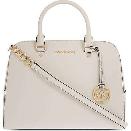 MICHAEL KORS Saffiano leather satchel (Vanilla