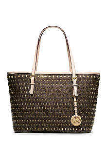 MICHAEL KORS Jet Set small studded travel tote