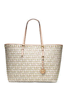 MICHAEL KORS Jet Set medium studded travel tote