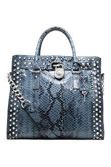 MICHAEL KORS Hamilton mock-python leather tote
