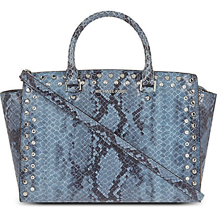 MICHAEL KORS Selma jewelled satchel (Denim