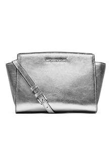 MICHAEL KORS Selma medium leather cross-body satchel