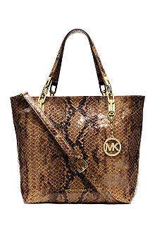 MICHAEL KORS Brooke medium mock-python leather tote