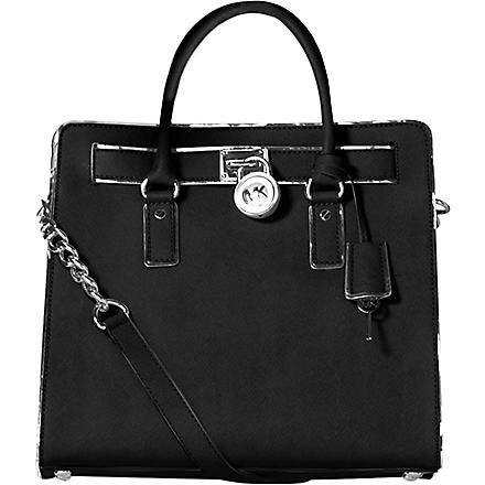 MICHAEL KORS Hamilton leather tote (Black