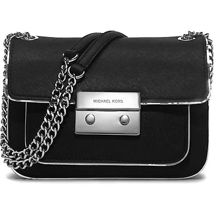 MICHAEL KORS Sloan saffiano leather shoulder bag (Black