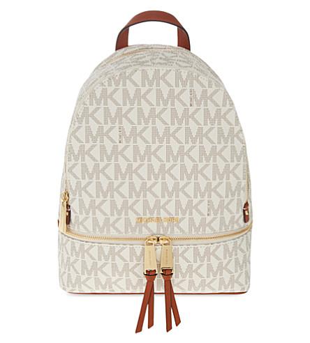 MICHAEL MICHAEL KORS Rhea medium leather backpack (Vanilla