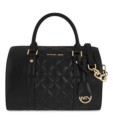 MICHAEL MICHAEL KORS Medium quilted leather satchel (Black