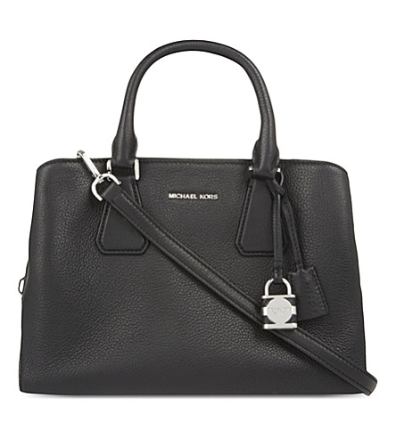 MICHAEL MICHAEL KORS Camille medium leather satchel (Black