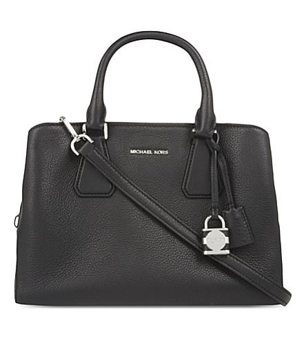 MICHAEL MICHAEL KORS Camille medium leather satchel (Black