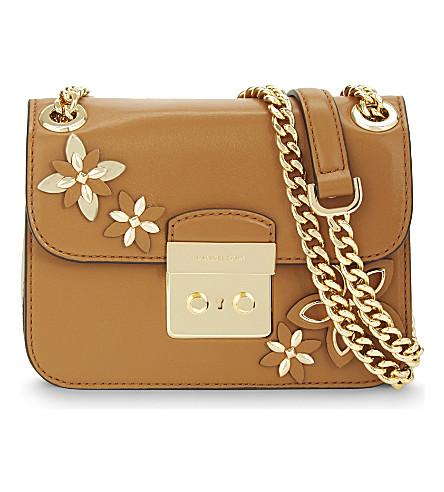 michael michael kors floral leather cross body bag
