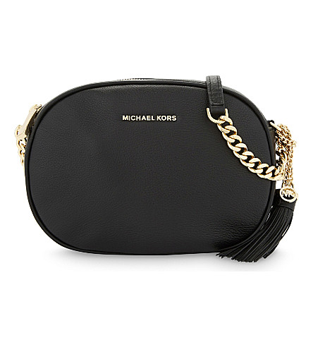 MICHAEL MICHAEL KORS Ginny leather cross-body bag (Black
