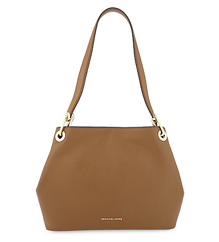 6e563ddf49c ... MICHAEL MICHAEL KORS Raven pebbled leather shoulder bag (Acorn.  PreviousNext