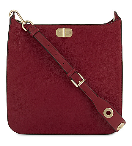 MICHAEL MICHAEL KORS Sullivan large leather messenger bag (Cherry