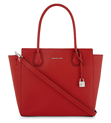 MICHAEL MICHAEL KORS Mercer large leather tote (Bright+red