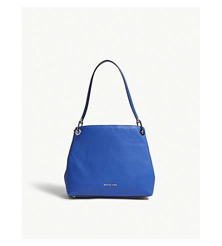 MICHAEL MICHAEL KORS Raven large leather shoulder bag (Elctric+blue