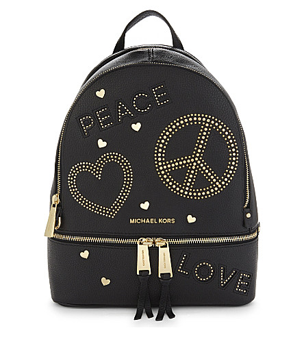 MICHAEL MICHAEL KORS MMK x Jourdan Dunn Rhea leather backpack (Black