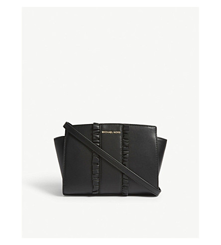MICHAEL MICHAEL KORS Selma medium frilled messenger (Black