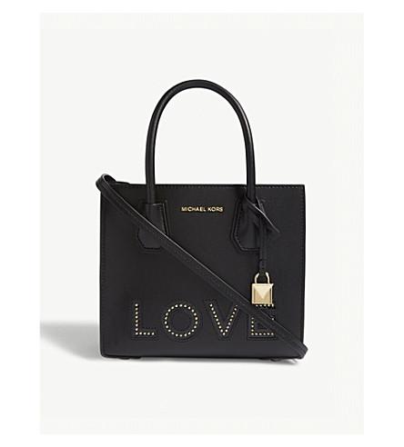 MICHAEL MICHAEL KORS Mercer 'Love' medium leather tote (Black