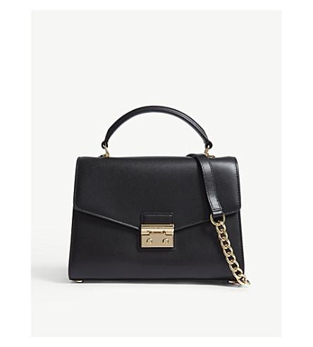 MICHAEL MICHAEL KORS Sloan leather satchel bag (Black
