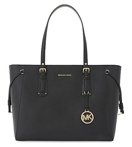 MICHAEL MICHAEL KORS Voyager leather tote bag (Black