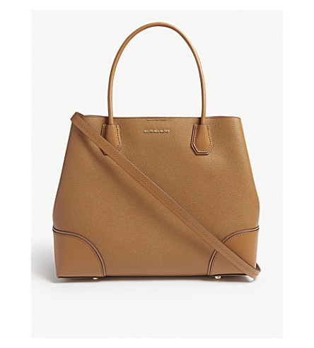 MICHAEL MICHAEL KORS Mercer Gallery large grained leather tote (Acorn
