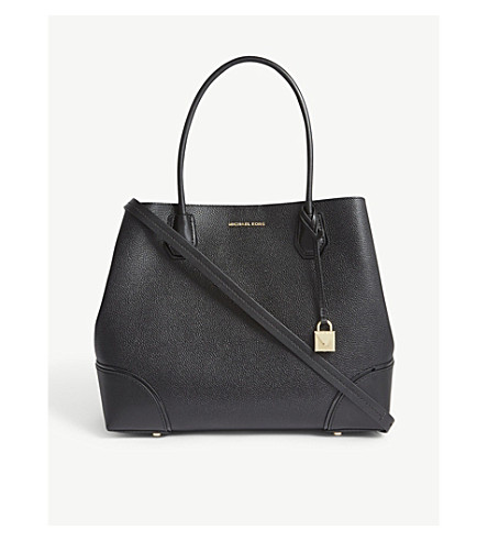 MICHAEL MICHAEL KORS Mercer Gallery large grained leather tote (Black