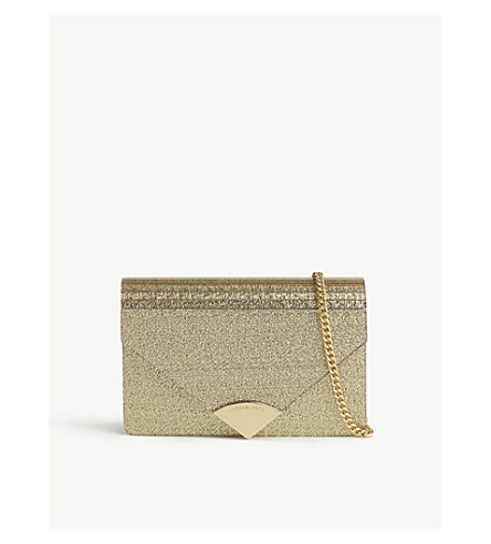 MICHAEL MICHAEL KORS Barbara medium envelope clutch (Gold