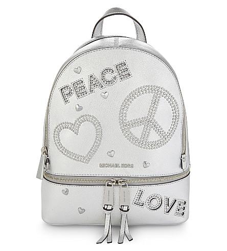 MICHAEL MICHAEL KORS MMK x Jourdan Dunn Rhea leather backpack (Silver