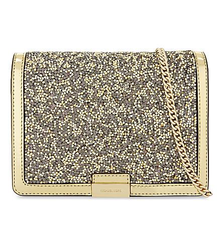 MICHAEL MICHAEL KORS Jade medium leather cross-body bag (Gold