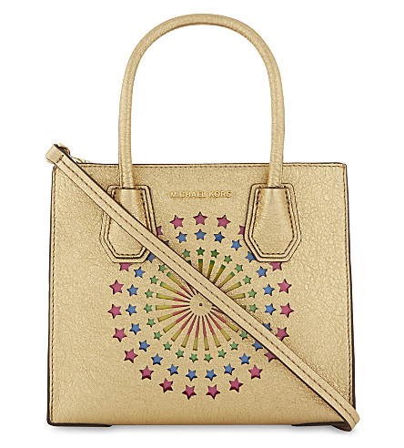 MICHAEL MICHAEL KORS Mercer light-up medium tote (Gold