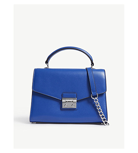 MICHAEL MICHAEL KORS Sloan medium leather satchel bag (Elctric+blue