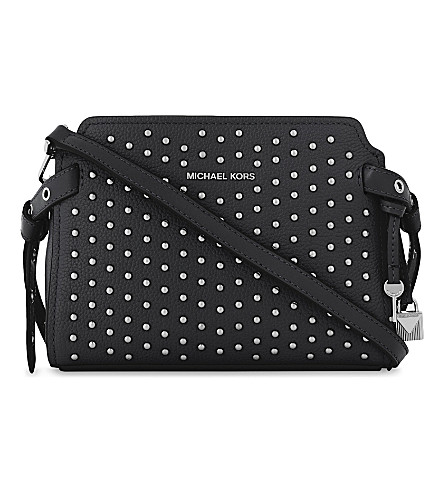 MICHAEL MICHAEL KORS Bristol studded leather messenger bag (Black