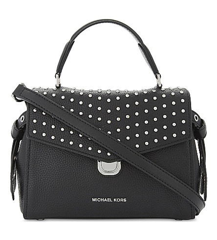 MICHAEL MICHAEL KORS Bristol studded leather satchel bag (Black