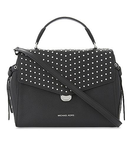 MICHAEL MICHAEL KORS Bristol studded leather satchel bag (Black