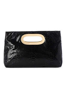 MICHAEL KORS Berkley mock-python clutch