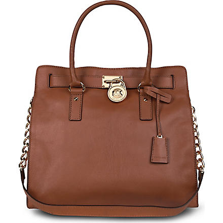MICHAEL KORS Hamilton leather tote (Luggage