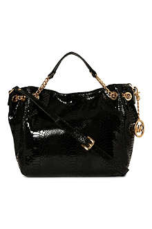 MICHAEL KORS Jet Set Chain medium mock-python tote